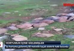 Su hortumuna gizlenmiş 80 metrelik kaçak hat bulundu