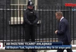 AB Başkanı Tusk, İngiltere Başbakanı May ile bir araya geldi