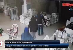 Perde hırsızları kamerada