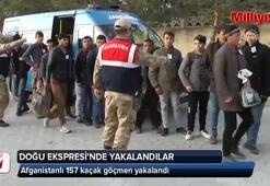 Doğu Ekspresinde bir vagondaki kaçak göçmenler gözaltına alındı