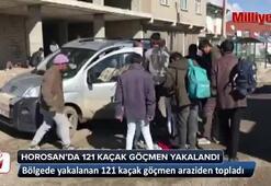 Horasanda 121 kaçak göçmen yakalandı
