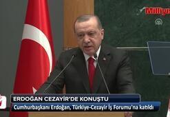 Cumhurbaşkanı Erdoğan Türkiye-Cezayir İş Forumunda konuştu