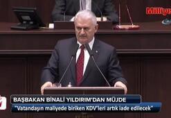 Başbakan Binali Yıldırımdan KDV müjdesi