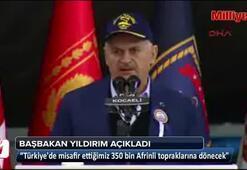 Başbakan Yıldırım, Türkiyedeki Afrinli sayısın açıkladı