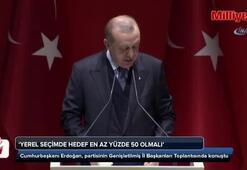 Cumhurbaşkanı Erdoğan oy hedefini açıkladı
