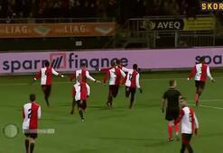 Feyenoordlu Orkun Kökçüden harika gol