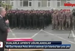 48 Özel Harekat Polisi Afrine uğurlandı