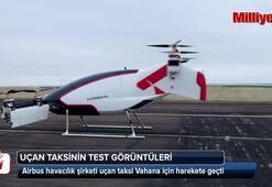 Uçan taksinin görüntüleri yayınlandı