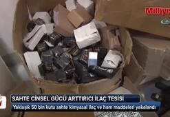 İstanbul polisinden sahte cinsel gücü artırıcı ilaç tesisine operasyon