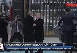 Cumhurbaşkanı Erdoğan, Makedonyalı mevkidaşını resmi törenle karşıladı