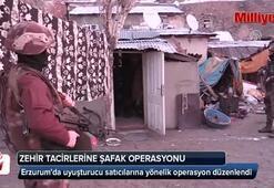 Erzurumda uyuşturucu satıcılarına şafak operasyonu