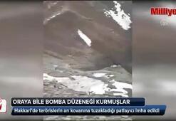 Teröristler oraya bile bomba düzeneği kurmuş