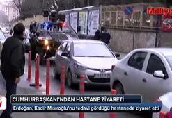 Cumhurbaşkanı Erdoğandan tedavi gören Kadir Mısırlıoğluna ziyaret