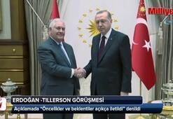 Cumhurbaşkanı Erdoğan-Tillerson görüşmesi sonrası ilk açıklama