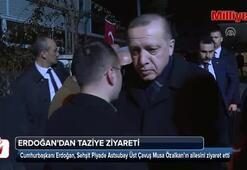 Cumhurbaşkanı Erdoğan şehit Özalkanın ailesini ziyaret etti