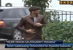 Terim Galatasaray Üniversitesine ziyarette bulundu