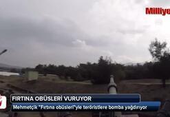 Mehmetçik Fırtına obüsleriyle teröristlere bomba yağdırıyor