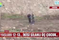 Ankarada eli silahlı çocuklar