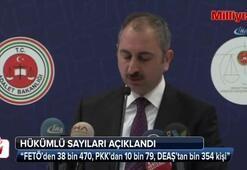 Bakan Gül tutuklu ve hükümlü sayılarını açıkladı