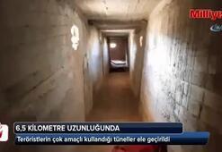 Teröristlerin çok amaçlı kullandığı tünelleri ele geçirildi