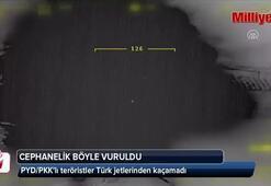 PYD/PKKlı teröristler jetlerden kaçamadı