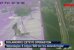 Telefonla vatandaşları dolandıran çeteye operasyon kamerada