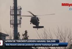 Afrinde teröristlerden havanlı saldırı