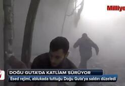 Esed rejimi  Doğu Gutaya havadan ve karadan saldırı düzenledi