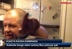 Kabinde kavga eden sarhoş Rus yolcuya şok