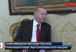 Erdoğan, İtalya Cumhurbaşkanı ile bir araya geldi
