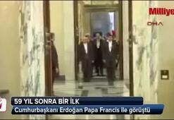 Cumhurbaşkanı Erdoğan Papa Francis ile görüştü