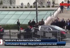 Cumhurbaşkanı Erdoğan, Bekir Sıtkı Albayrakın cenaze törenine katıldı
