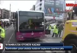 İstanbul Kadıköyde otobüs kazası