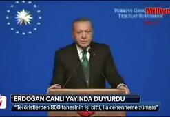 Cumhurbaşkanı Erdoğan: Şimdiye kadar 800 terörist öldürüldü