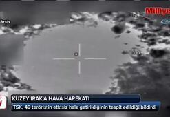 Kuzey Irak'a hava harekatı: Tam 49 terörist...