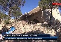 Burseya Dağı'ndaki PKK/PYD kampı görüntülendi