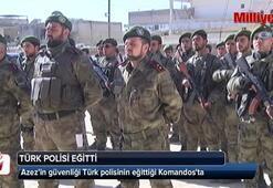 Azez'in güvenliği Türk polisinin eğittiği Komandosya