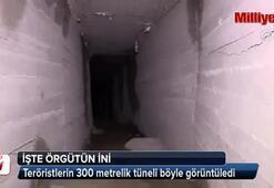 Teröristlerin 300 metrelik tüneli böyle görüntüledi