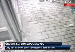 Önce hırsız, sonra polis soydu