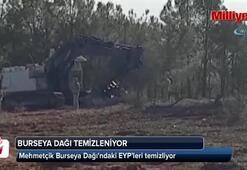Mehmetçik Burseya Dağında EYP temizliyor