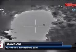 Kuzey Irak'ta 11 hedef imha edildi