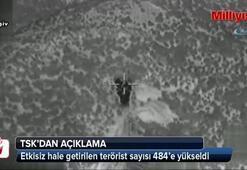 Etkisiz hale getirilen terörist sayısı 484'e yükseldi