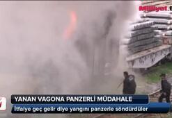 Yanan vagona panzerli müdahale