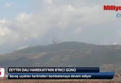 Savaş uçakları teröristleri bombalamaya devam ediyor