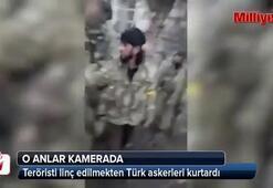 YPG'li teröristi linçten Türk askeri kurtardı