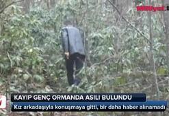 Kayıp genç ormanda asılı bulundu