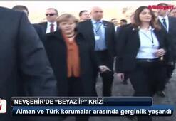 Alman Başbakanına Kapadokyada ipli koruma