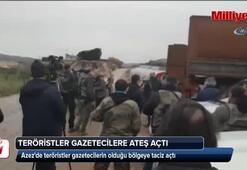Teröristler, Burseya Dağı eteklerinde gazetecilere ateş açtı