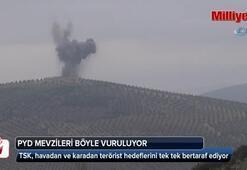 PYD mevzileri böyle vuruluyor