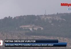 Afrin bölgesinde obüsler vurmaya devam ediyor